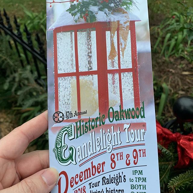 Enjoying the @historicoakwood candlelight tour today. So much Raleigh history in this neighborhood.