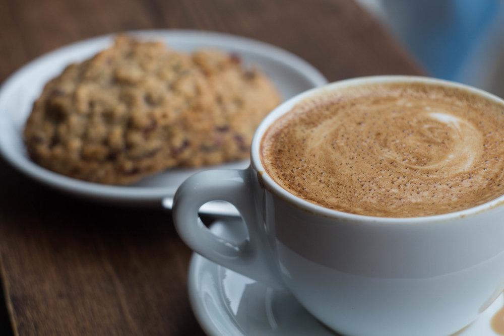 Black Tavern Club: Coffee and Oat Cookie