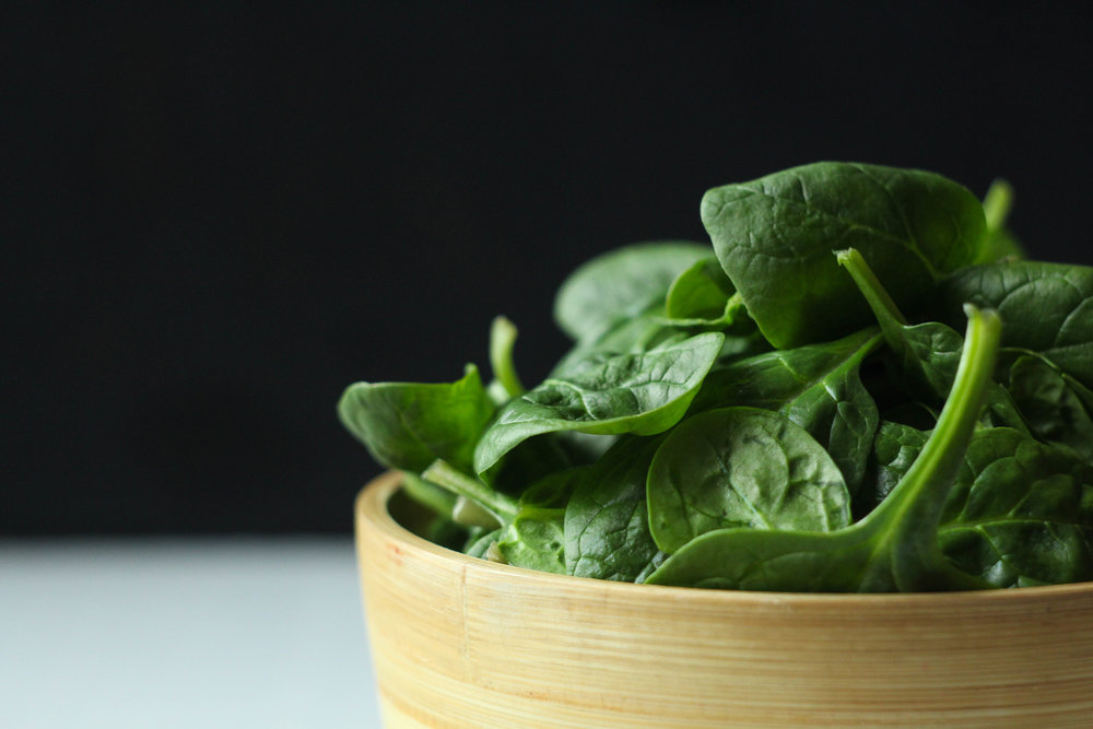 Raw: fresh spinach