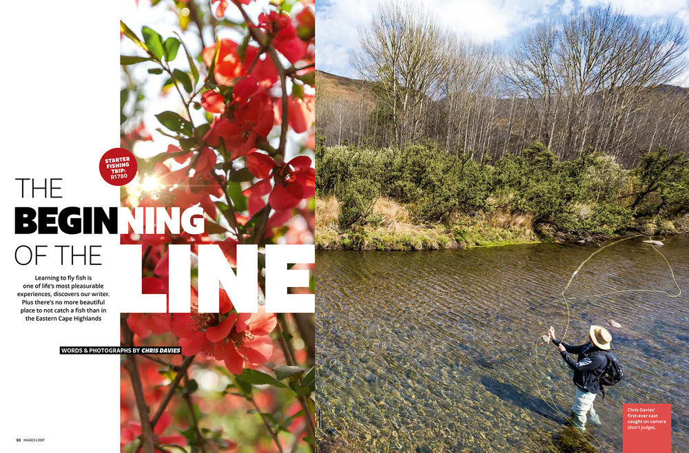 Getaway Magazine - March 2017Learning fly fishing in South Africa's Eastern Highlands - the prettiest place in the country not to catch a fish.
