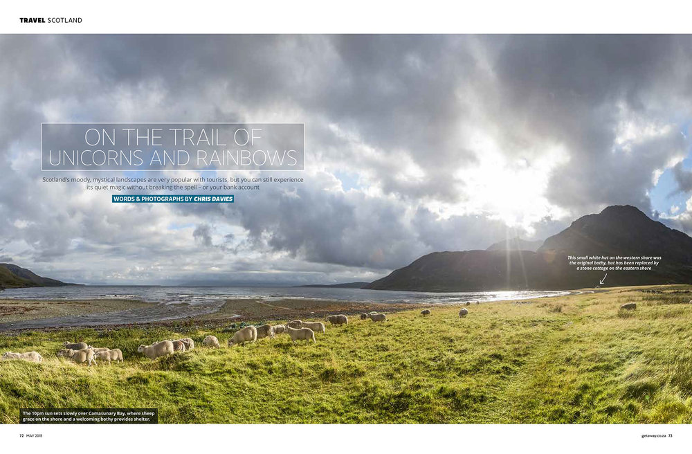 Getaway Magazine - A week of summer hiking on Scotland's Isle of Skye, featuring Camasunary and Lookout bothy, and lots of rain and sheep.