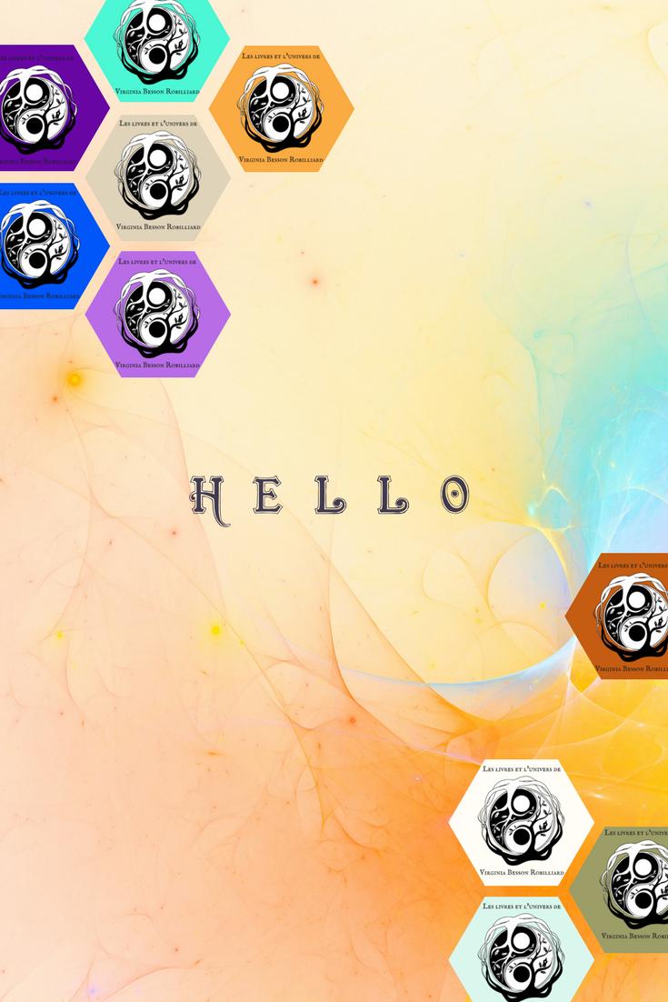 Fond d'écran multi-logos d'auteur pour un écran coloré.