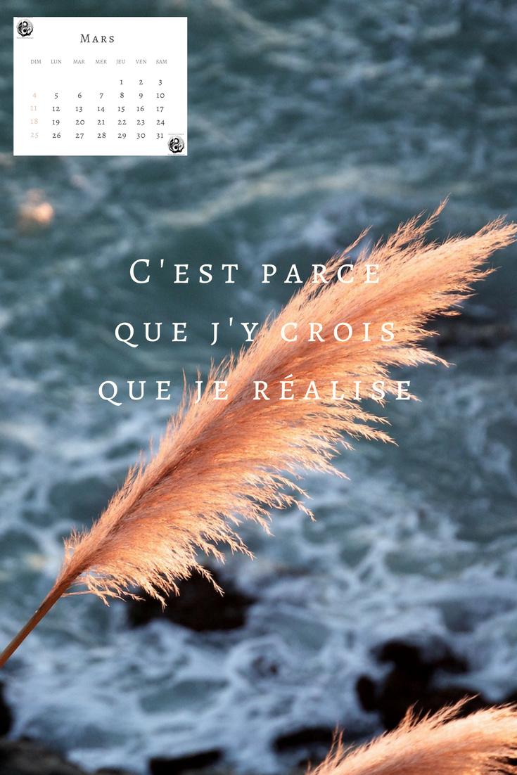 """Wallpaper """"pensées et calendrier"""""""