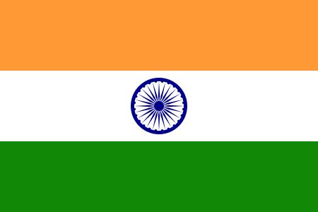 Drapeau de l'inde, drapeau indien, roue du samsara, des réincarnations.png