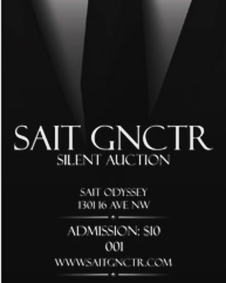 Hey everyone who's up to get a little fancy!  SAIT GNCTR is hosting a silent auction on Nov 29th from 6pm-9pm at the SAIT Odyssey! There will be tons of fun items ranging from drink packages, escape room tickets, Cineplex movie passes and lots more! Come down and come check it out. It's only a 10$ admission at the door for a chance to try your hand at winning these lovely auction items! We hope to to see you there!!! #sait #theodysseycoffeehouse #gnctr