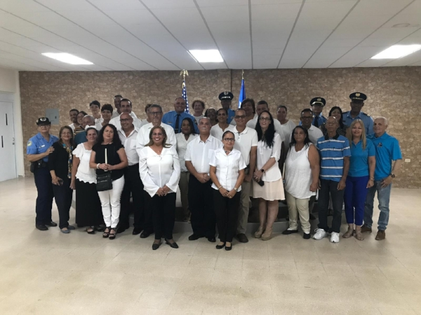 The newly sworn in Community Security Council in Punta Santiago, Humacao.