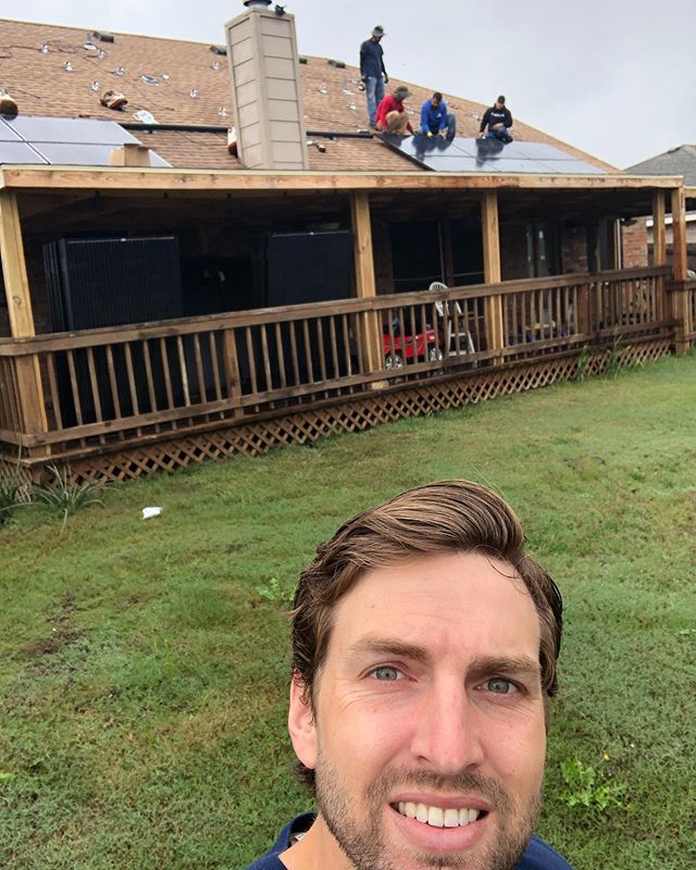12 Kw solar system going up for 100% of their power here in Krum, Tx.  #TexasBestSolar #SolarSelfie
