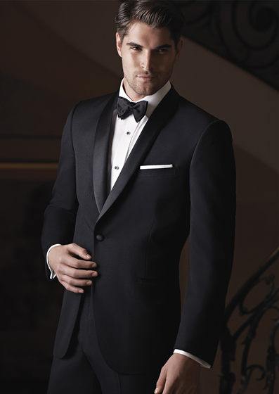 Ike Behar Black Braydon - Luxury wool1 buttonBlackShown with coordinating accessories and luxe microfiber shirt.
