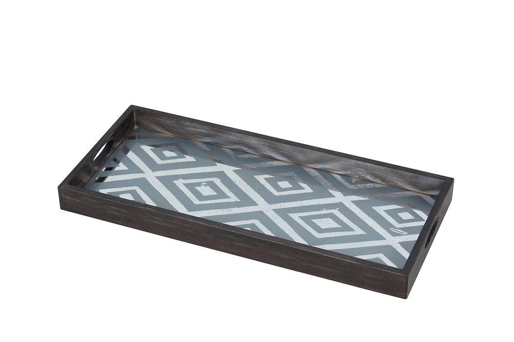 Diamond medium mirror tray - £117 - 31 x 69cm
