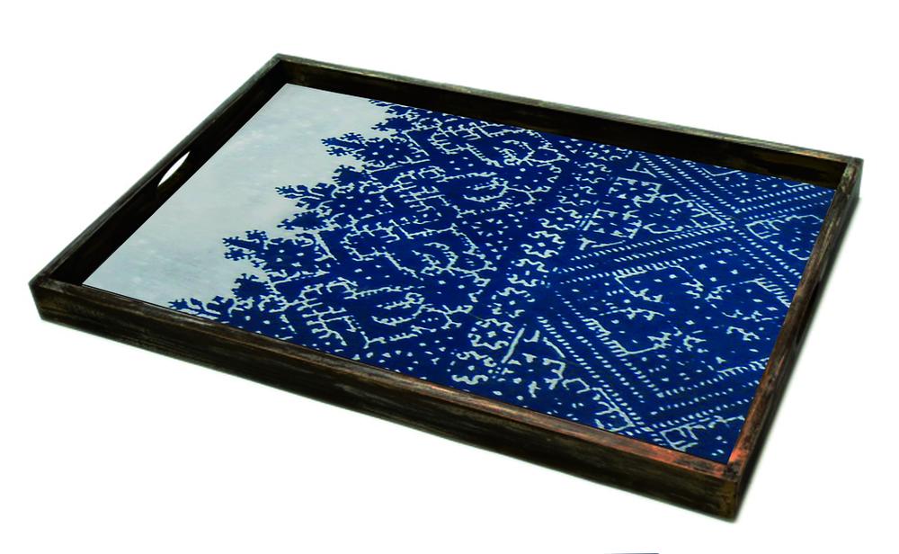 Cross Stitch large glass tray - £159 - 46 x 61cm