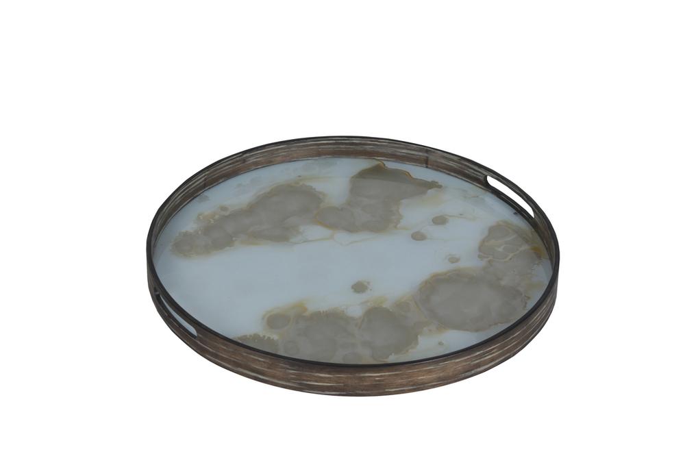 Mist Gold Organic small glass tray - £117 - 48 x 48cm