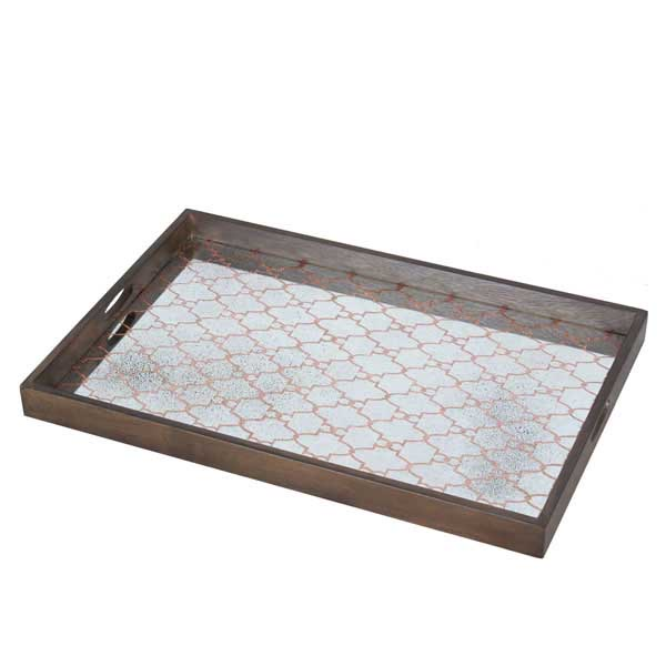 Copper Gate large mirror tray - £159  46 x 61cm