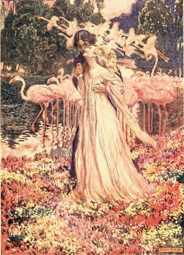 Illustration by  Byam Shaw  for a  London  edition of Poe's stories dated 1909
