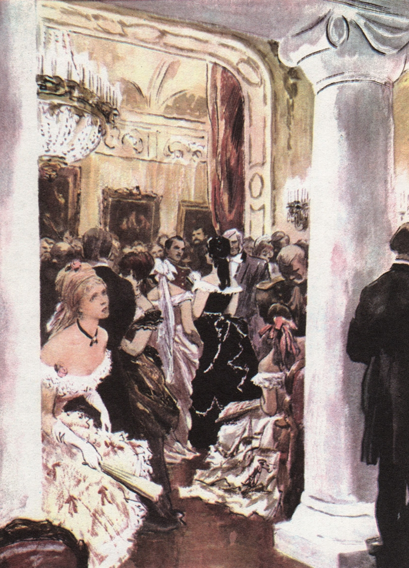 Illustration by Orest Vereysky for Moscow edition of  Ana Karenina , 1984