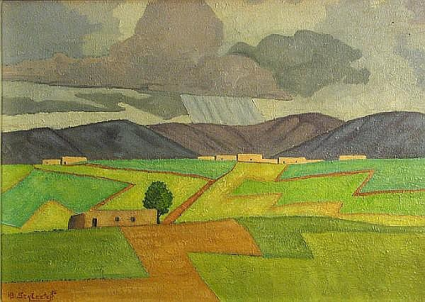 Howard Schleeter, Landscape, 1936