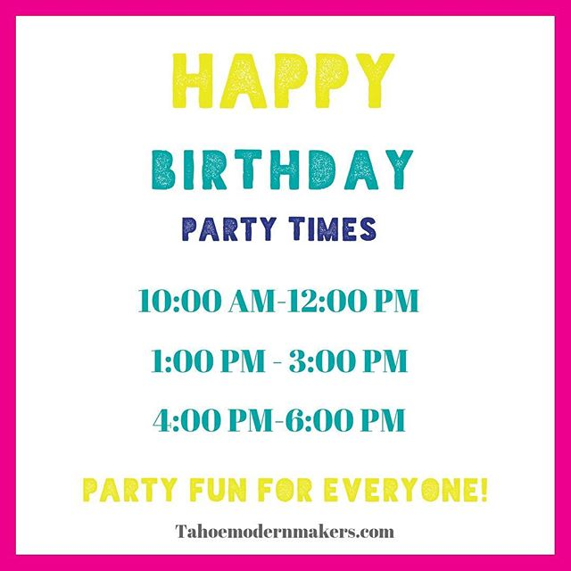 Parties and special events. . . . . #southlaketahoe #create #tahoesouth #maker #tahoe