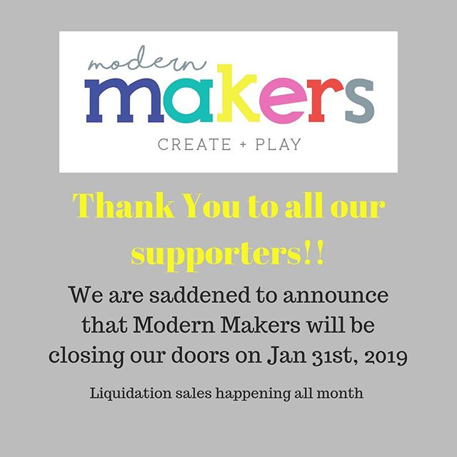 Thank you to all our South Lake Tahoe community and supporters, for making memories, creating with us and supporting us for the past two years. It's with sadness we announce Tahoe Modern Makers will be closing our doors January 31st, 2019. . . Gift cards will be honored through the month of January. . . Come see us 10am-6pm everyday this month for blow out sales and specials.