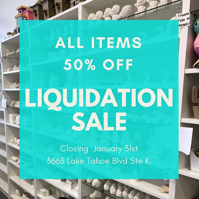 We are sad this will be our last week in a retail location! Only 7 more days! Come get your craft on one last time and stock up. . . 50% off store wide