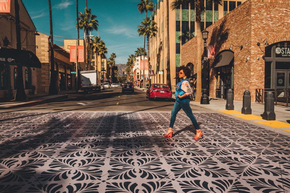 walking in Pasadena downtown