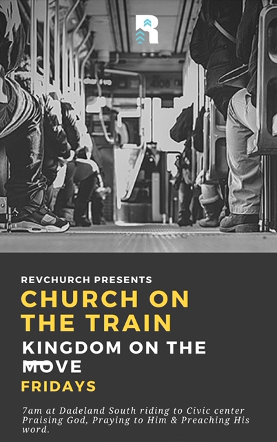 Rail Ministry - Every Friday at 7am, from Dadeland South to Civic Center and back, the kingdom in motion is sent out to reach those in need of God's word on the MetroRail.
