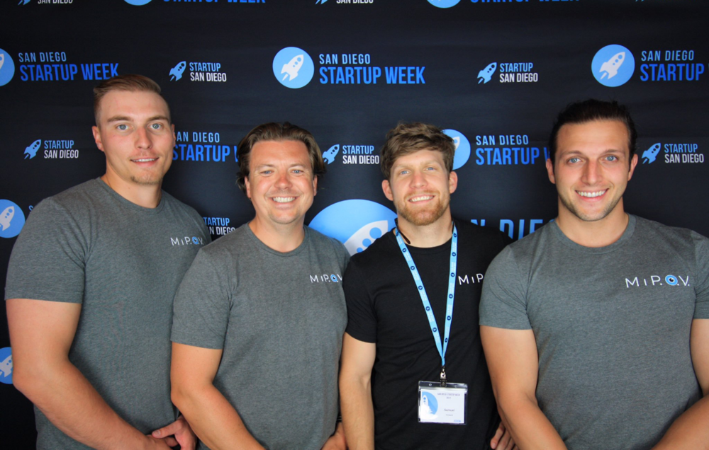 Nick, Daniel, Sam & Ryan at San Diego Start Up Week 2017 getting their photo taken.
