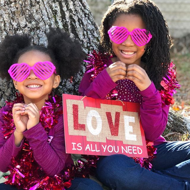 Happy Valentine's Day from Mikayla and Addison! #dayoflove #sisterlove #lovestuff #twogirlsandamomma