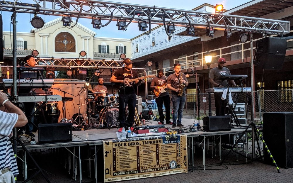 Dexter O'Neal and Funk Yard at Pour Bros Courtyard Concert Series