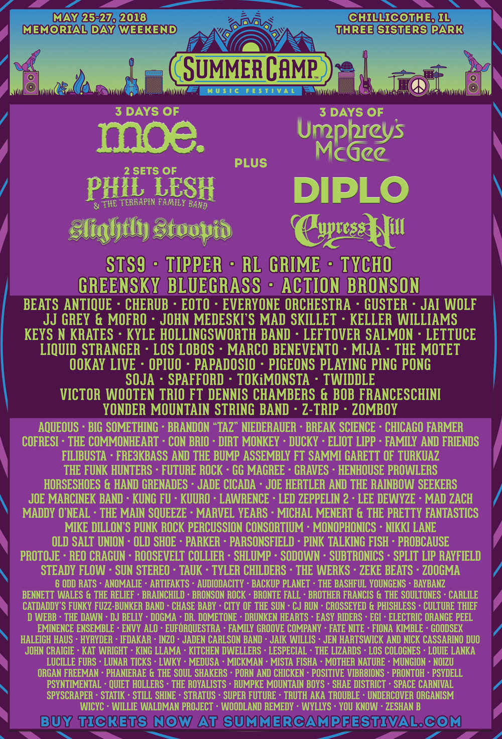 That is a LOT of music in one place! What a line-up!