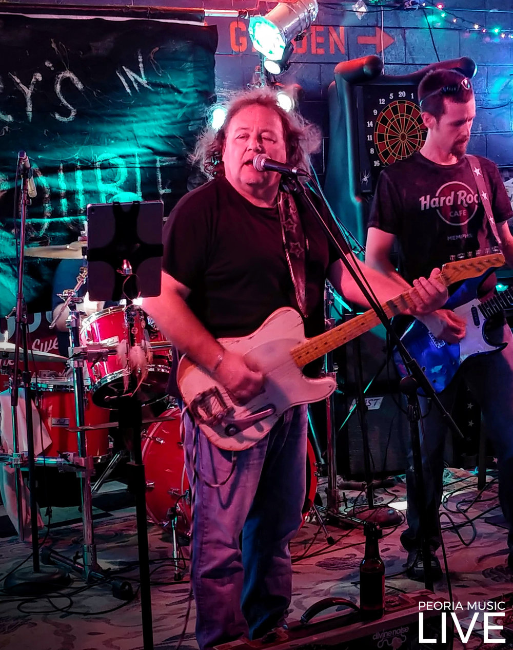 Brian Larson & Shawn Shawn Soens of Gary's in Trouble. Photo taken at Christy's Place in Washington, Aug 25, 2018