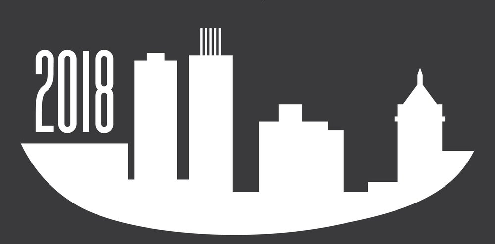 Skyline from the bottom of the graphic created by Elise Kingland of Blue Heron Graphic Design. I LOVE IT!
