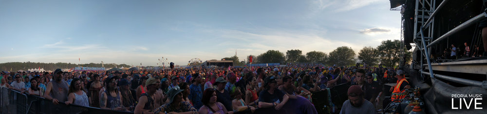 Crowds waiting to see their favorite bands, new and old both, at Summer Camp 2018