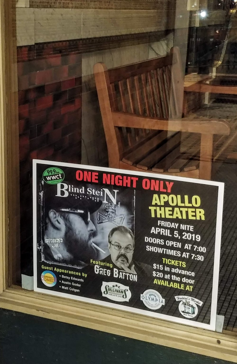 The poster with all the details has been up in the front window at the Apollo for awhile. If you don't have your tickets yet, get them now!