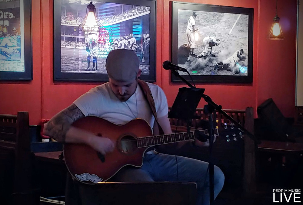 Chase Sieting often pays solo acoustic shows in the area. He was at West Town Tap on March 9th, 2019.