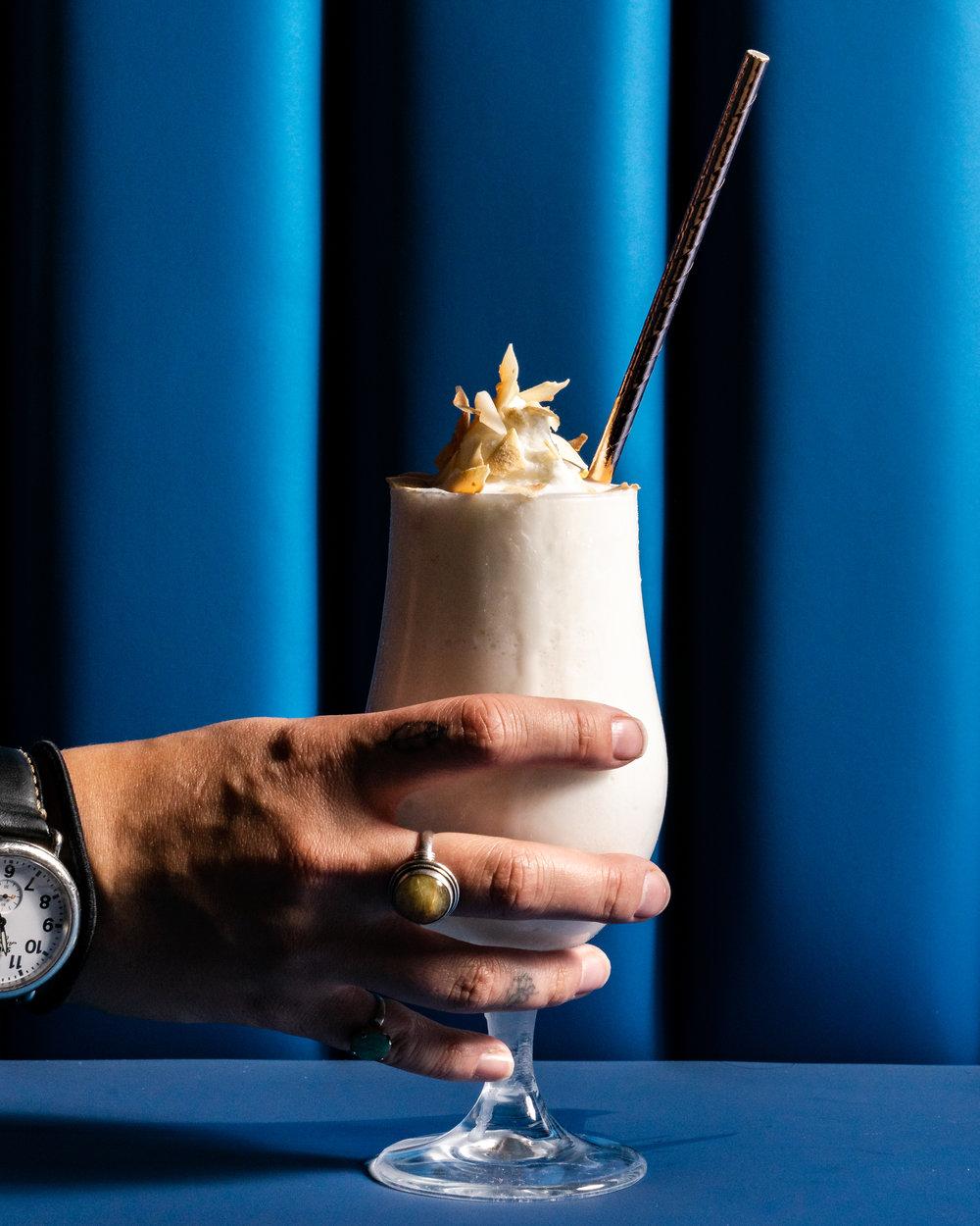 coupette colada cocktail