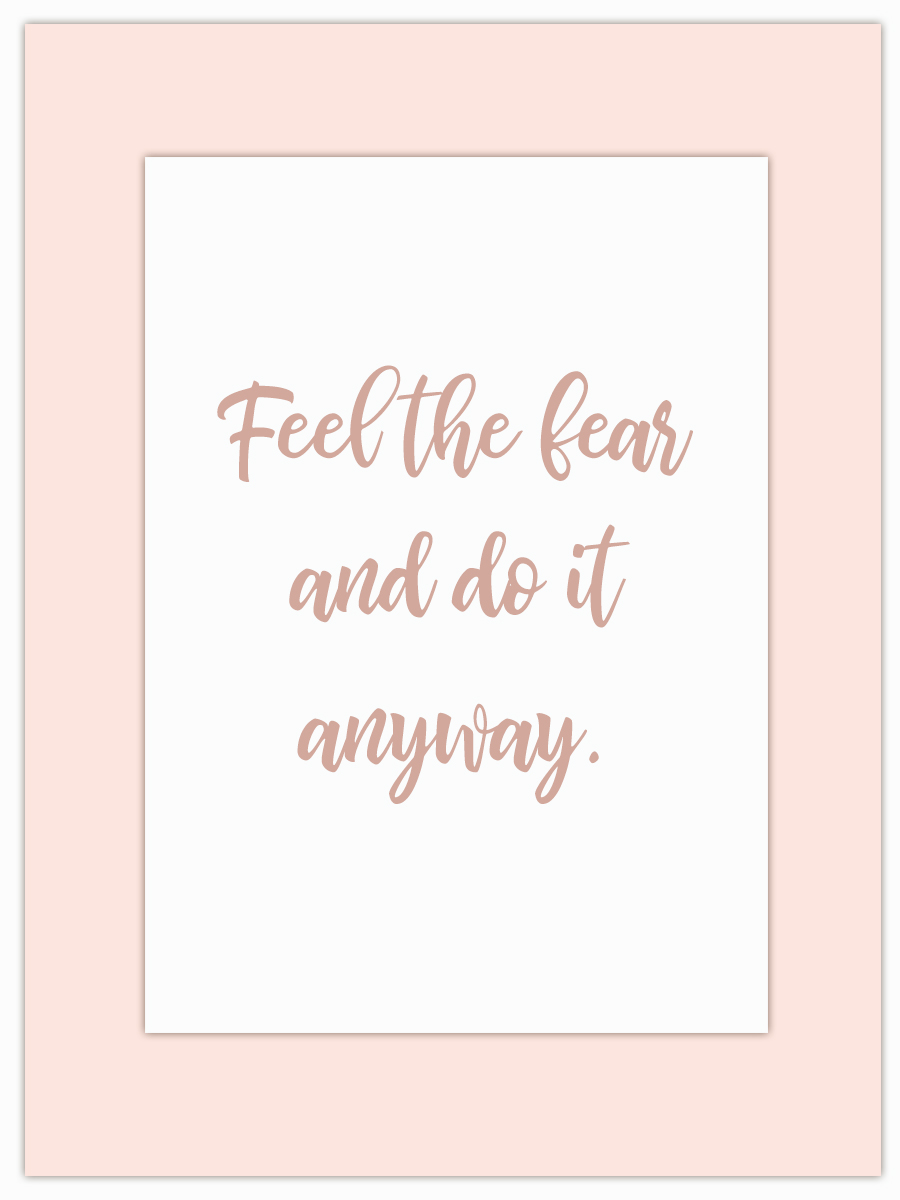 Let my Monday Muse motivate you through the week! - Give your fear the boot… you'll be amazed at what you can achieve!