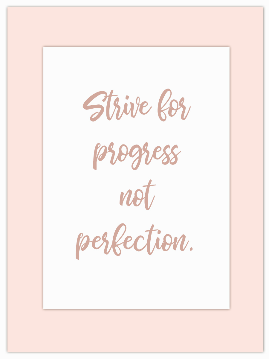 Le my Monday Muse motivate you through the week! - Dump the idea of perfection and see massive progress!