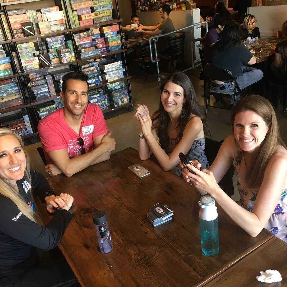 Playtesting session at Gamehaus Cafe in Glendale, CA.