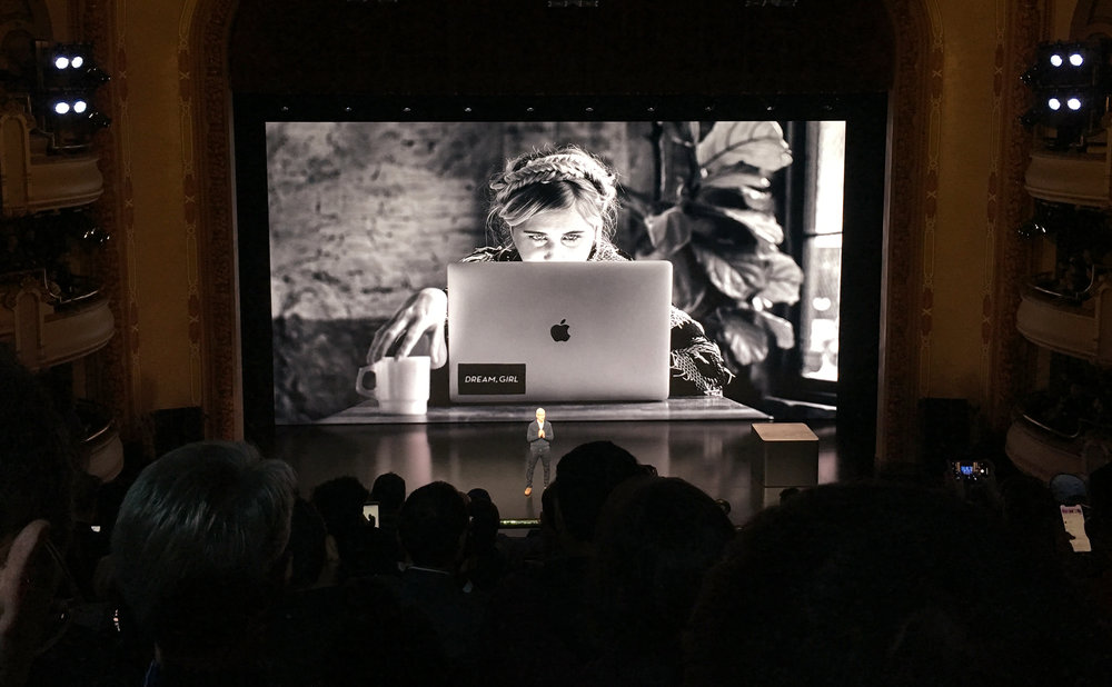 apple event at bam - It was surreal and thrilling to hear Tim Cook talk about the power of creatives with my #BehindTheMac photo serving as backdrop at BAM. Thank you Apple for championing the stories of artists and uplifting my work with Dream, Girl.Click here to watch the keynote - I'm featured at 1:19:39.