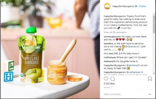 Happy Family Organics - Instagram engagemnt.jpg