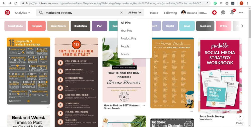 keyword research on Pinterest - dropown menu.jpg