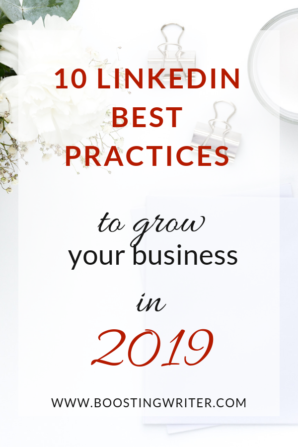 10 LinkedIn Best Practices to Grow your Business in 2019.png
