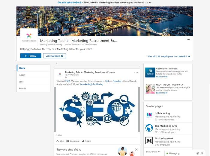 Marketing Talent - Marketing Recruitment Experts - LinkedIn Page