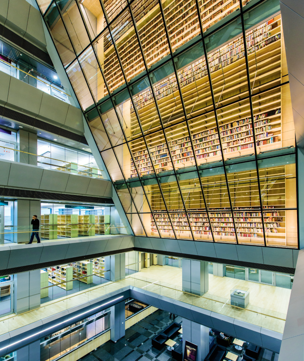 Latvian National Library atrium