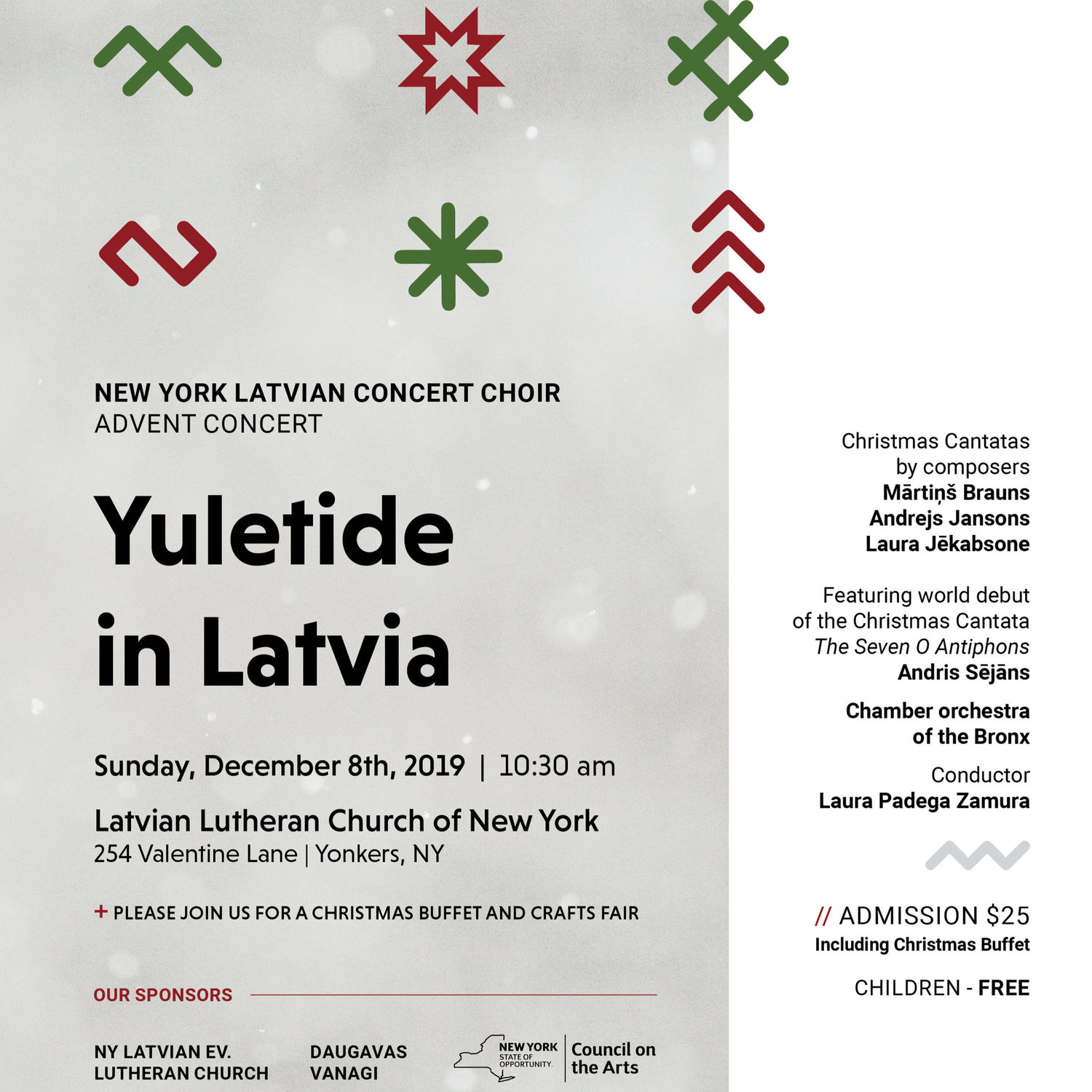 Latvian Lutheran Church Christmas Fair 2020 Yuletide in Latvia / Ziemassvetkis Laika Vejos   December 8, 2019