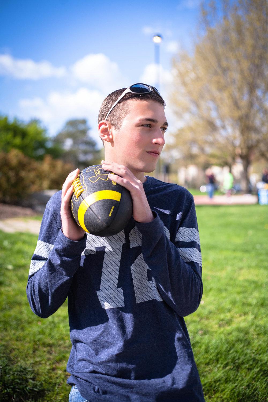 Senior Portraits-Tridge-Midland-Michigan-Football