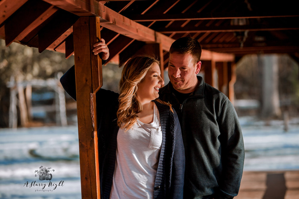 Beautiful couple overlooking the river in Beaverton, MI in Gladwin County.