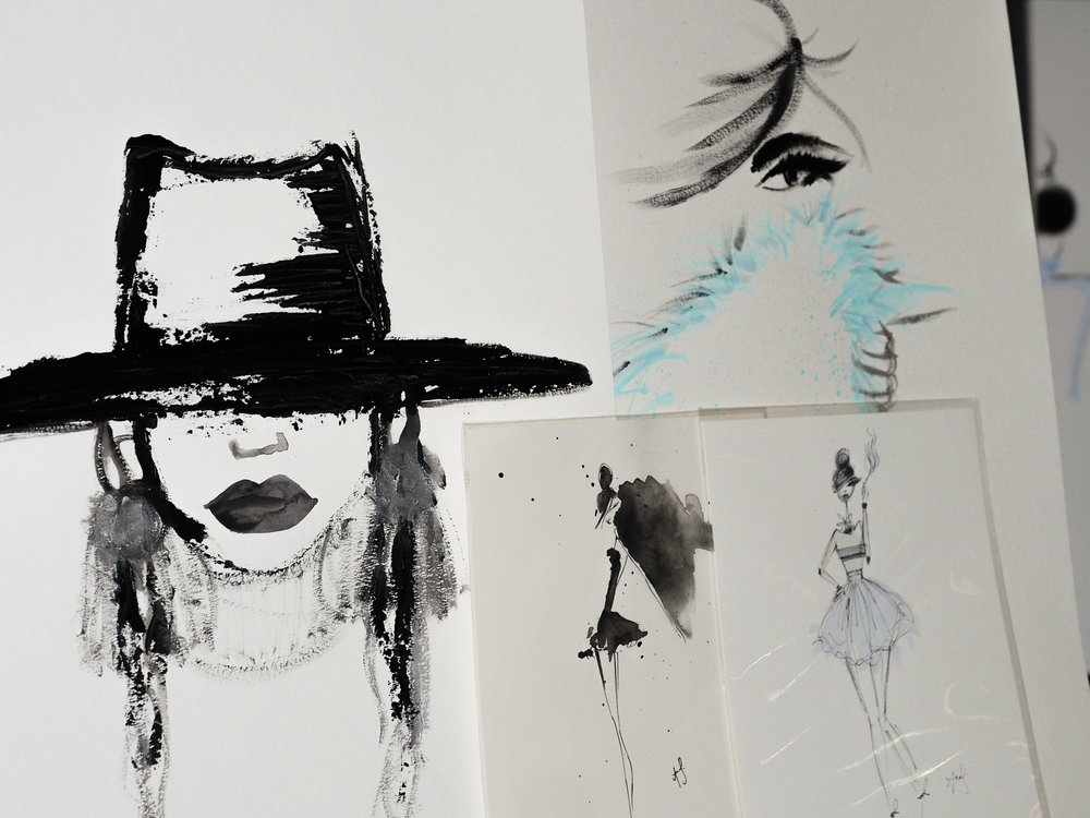 Fashion Illustrations by  Anna Sutherland