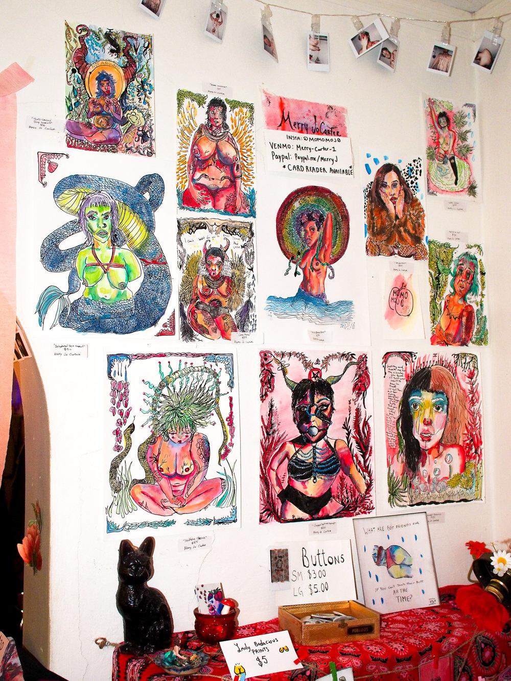 Cat Castle c0-curator Mary Jo Carter's decadent artwork (@momomoj0)