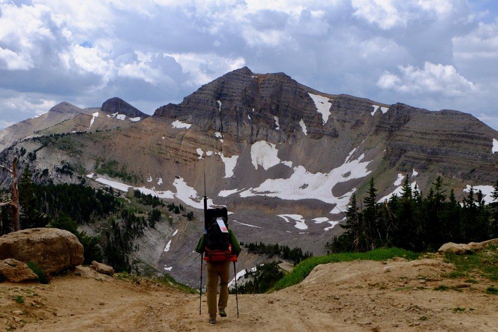 Dropping into Teton National Park from Jackson Hole Ski Resort