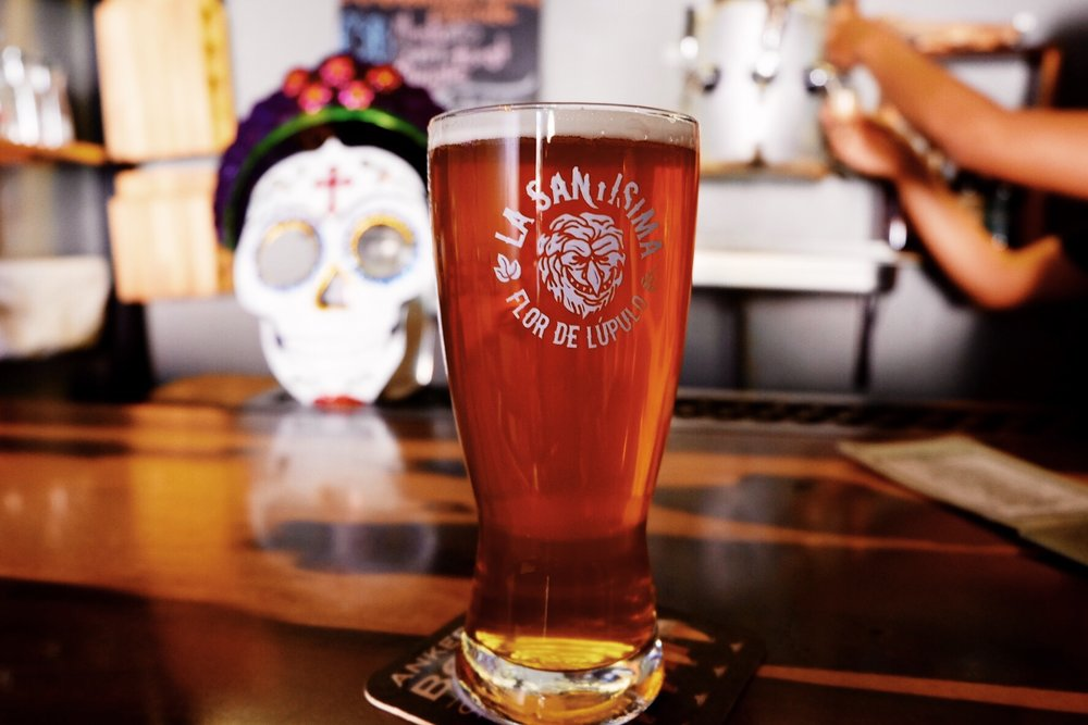 """Their bright IPA - in Mexico pronounced """"Ipa""""-loaded with Citra."""